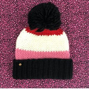 ❄️NWT Kate Spade Colorblock Winter Hat❄️